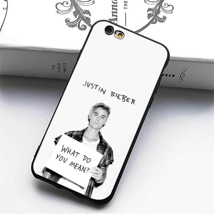 Justin Bieber Kegunaan 10 (2) Kasus Lembut untuk Apple IPHONE 7/Iphone 8-Internasional