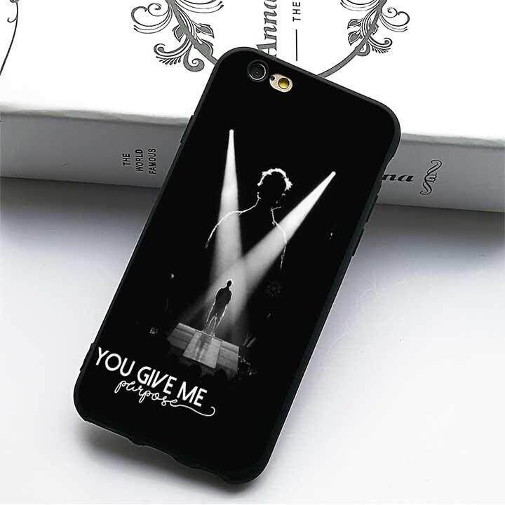 Justin Bieber Kegunaan 2 (6) Modis Kasus Lembut untuk Apple iPhone 8-Internasional