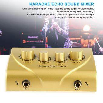 Karaoke Sound Mixer Professional Audio System Machine Portable Digital Gold - intl