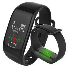 ความคิดเห็น Kisnow K18S Bluetooth Waterproof Heart Rate Monitor Sleep Sports Bracelet Smart Activity Trackers Color Black