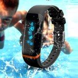 Kisnow X12 Bluetooth Waterproof Heart Rate Monitor Sleep Sports Bracelet Smart Activity Trackers Color Black ใน จีน