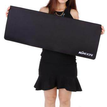 KKmoon 800*300*3mm Large Size Plain Black Extended Water-resistant Anti-slip Rubber Speed Gaming Game Mouse Mice Pad Desk Mat koko shopping mall Malaysia