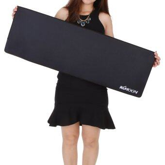 Kkmoon 900*300*3mm Large Size Plain Black Extended Water-resistant Anti-slip Rubber Speed Gaming Game Mouse Mice Pad Desk Mat (MY) Malaysia
