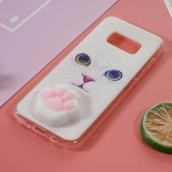 Kneading 3D Silicone Squishy Cat Paw TPU Gel Cover for SamsungGalaxy Grand Prime SM-G530 - Cat Pattern