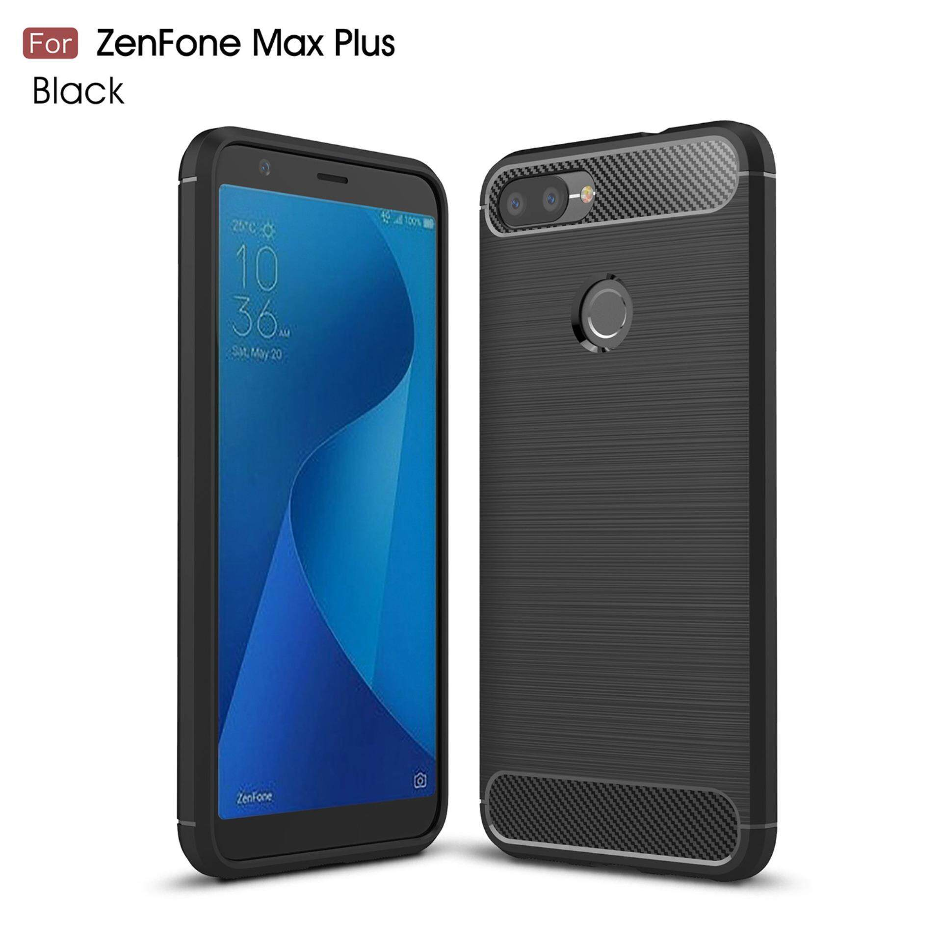 Kunpon For Asus Zenfone Max Plus Zb570Tl Case Rugged Armor With Resilient Shock Absorption And Carbon Fiber Tpu Non Slip Anti Scratch Ultra Slim Cover Case For Asus Zenfone Max Plus Zb570Tl Matte Black Intl เป็นต้นฉบับ
