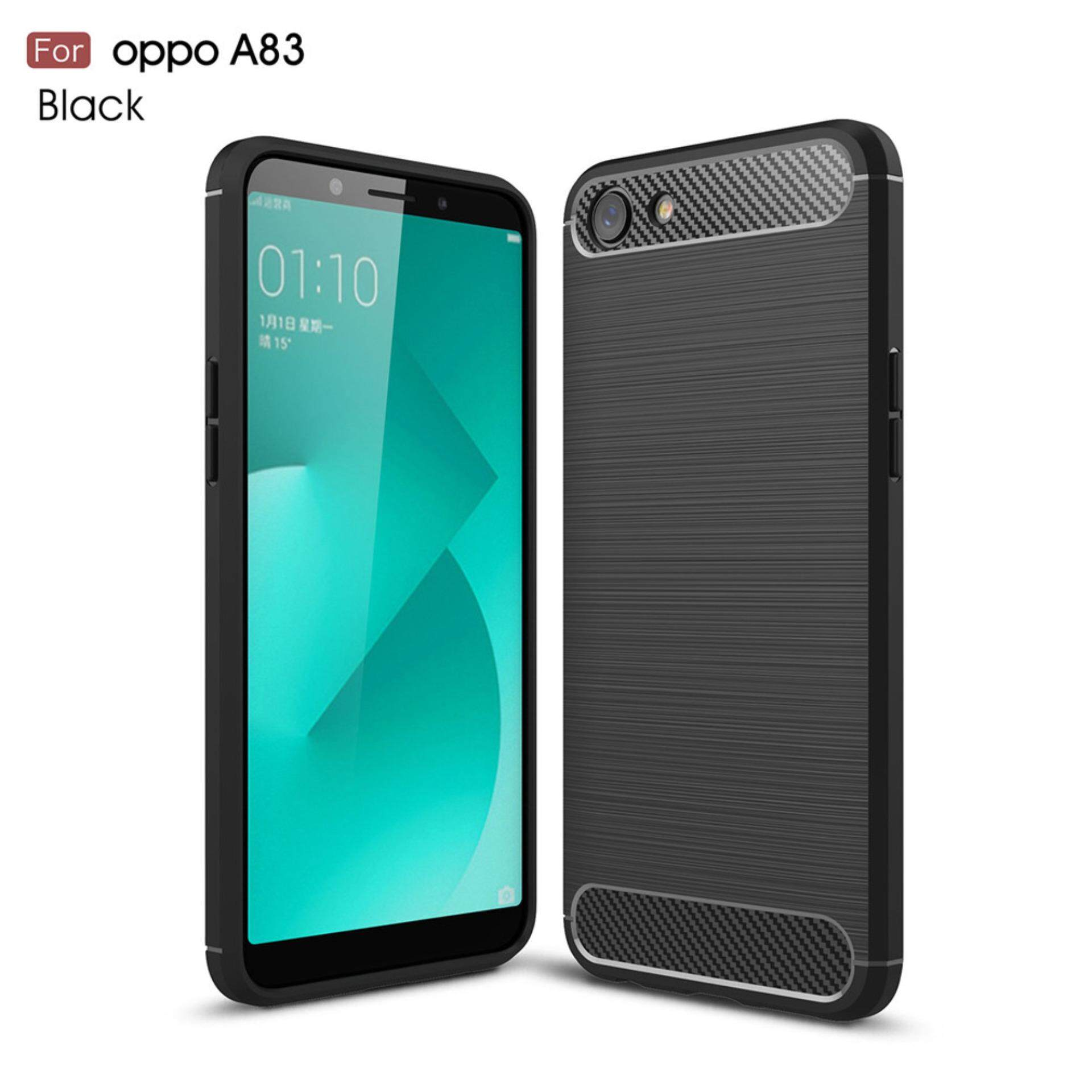 ราคา Kunpon For Oppo A83 Case Rugged Armor With Resilient Shock Absorption And Carbon Fiber Tpu Non Slip Anti Scratch Ultra Slim Cover Case For Oppo A83 Matte Black Intl ออนไลน์