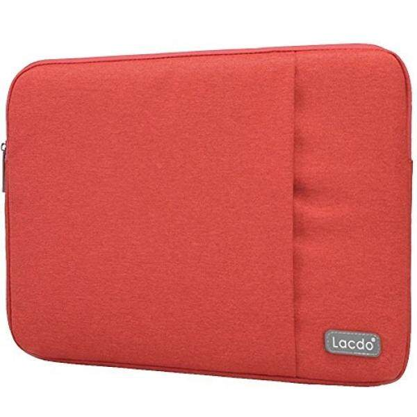 Lacdo Neoprene Sleeve Case Bag for Apple MacBook Pro, MacBook Air, ASUS, Toshiba, Dell Inspiron, Lenovo Yoga 2 Pro, HP Stream, HP Chromebook, Samsung, Sony, Acer and other 13-13.3-Inch Devices (Red) - intl