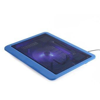 Laptop Cooler Cooling Pad Base Big Fan USB Stand for 14 or Below Notebook Blue Malaysia