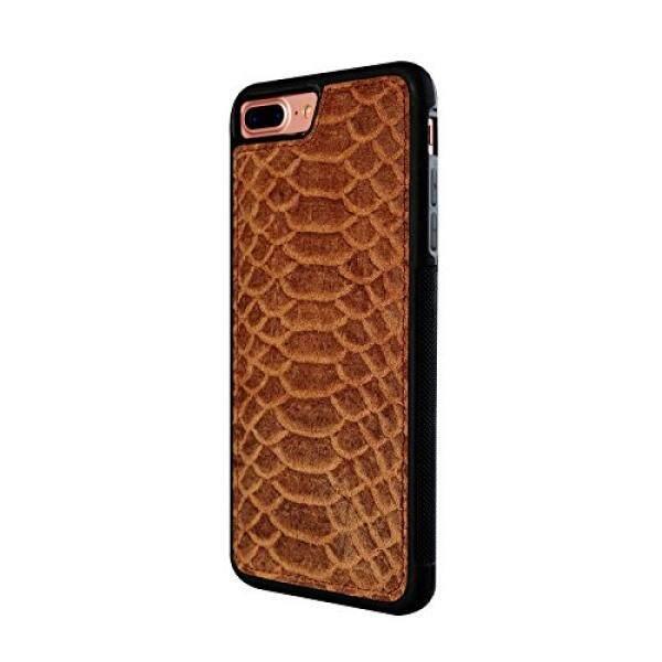 Kulit iPhone 7/8 Plus Inten Casekora Desain Ringan, Kulit Ular Pola-Internasional
