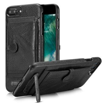 Leather Soft Silicone/TPU anti-fall Phone Case with Flip StandCover Support Phone Shell Protector For App.le i.Phone 7 Plus 5.5inch