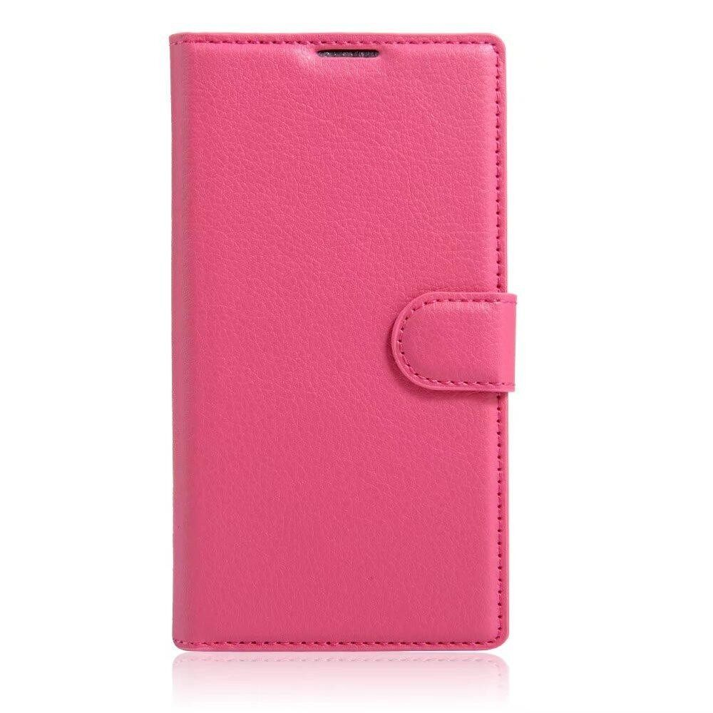 Leather with Deluxe Credit Card Flip cover case phone case For Alcatel POP D1 / 4018D - intl