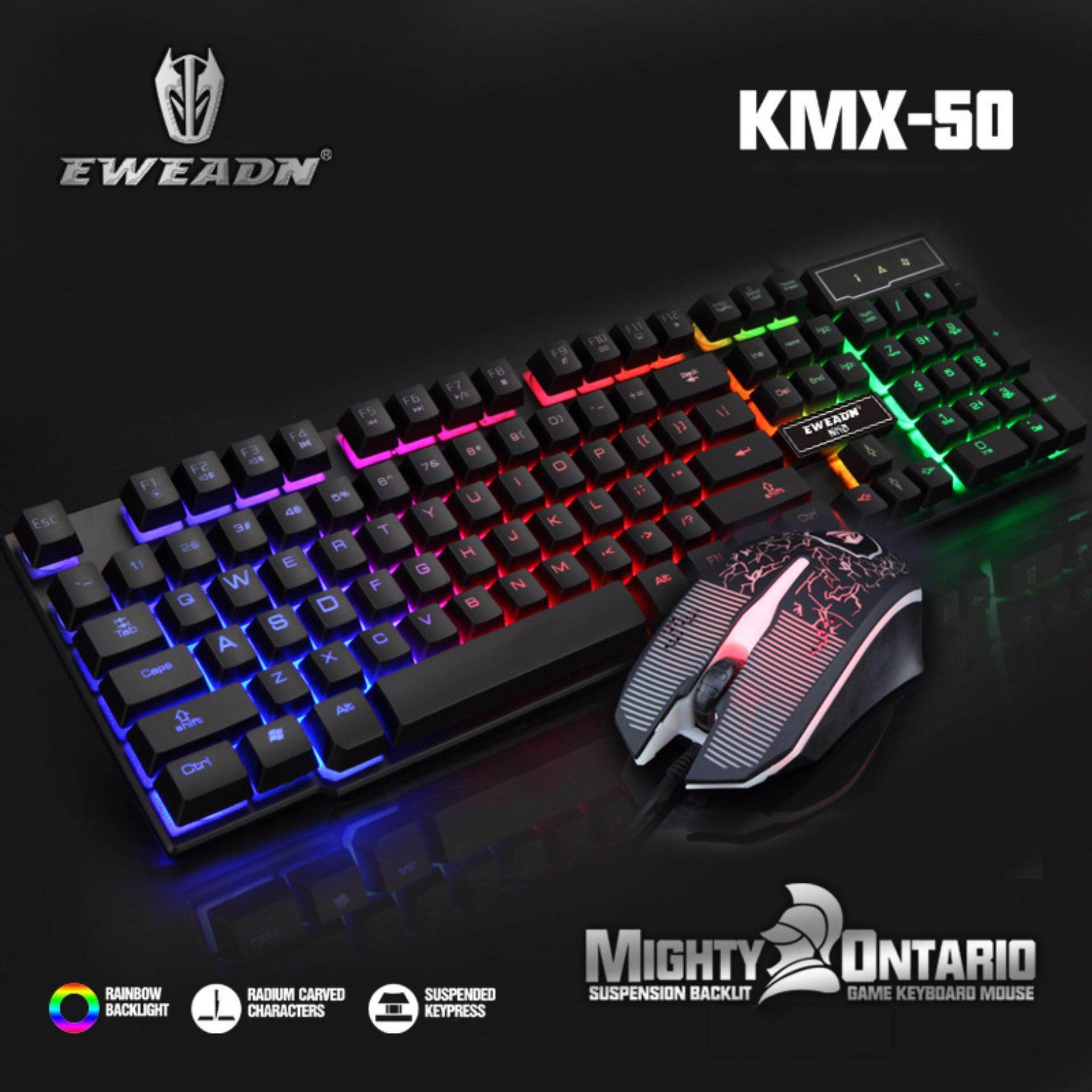 LED Colorful Light Gaming Water Resistant Keyboard and Mouse Combo Malaysia