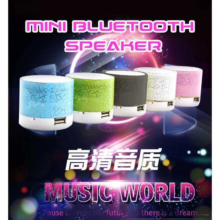 LED Portable Mini Wireless Bluetooth Speakers for Phone PC (Green)