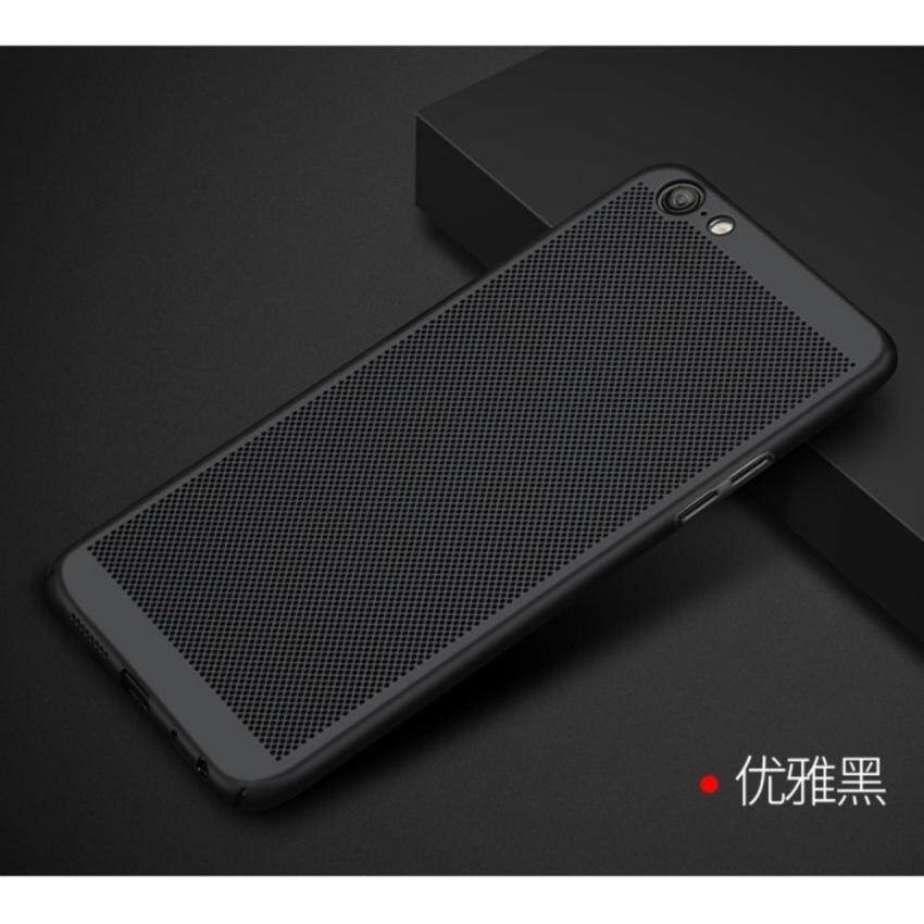 Leeco Oppo A57 Luxury Hollow Cooling Case Cover Casing (Black)  - intl