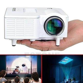 leegoal Home Theater UC28 Portable 1200lumens 1080P HD LCD HDMI USBVideo Game Mini LED Projector Proyector Projetor Beamer Projektor - 2