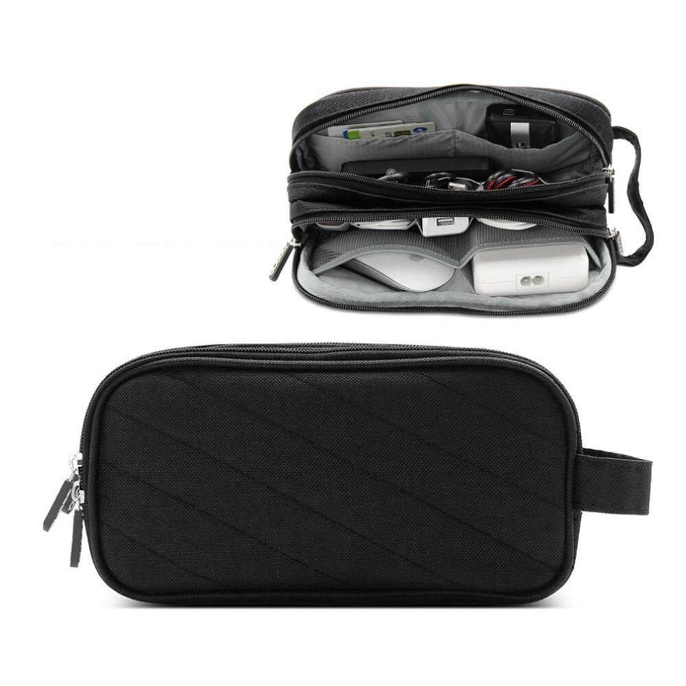 Cek Harga Baru Niceeshop Travel Gadget Organizer Bag Portable Leegoal Storage Perangkat Digital Usb Kabel Earphone Dual Zipper Clutch