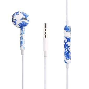 Harga leegoal Printed With Wheat Thread Original Wired In-Ear EarphonesFor Apple IPhone 5 5C 5S 6 6S 6 Plus 6S