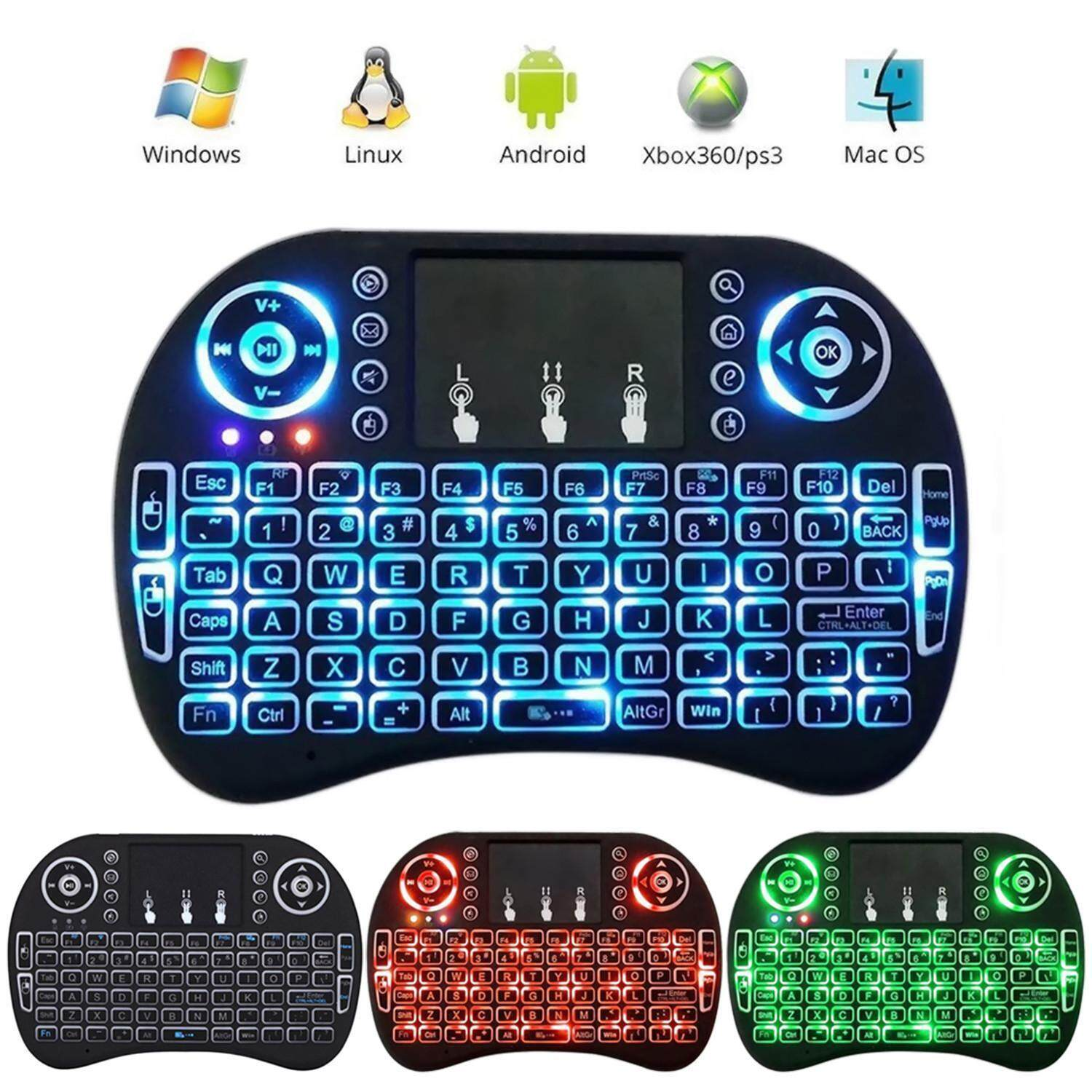 leegoal Rii I8 Mini 2.4Ghz Wireless Touchpad Keyboard With Mouse For Pc, Pad, Xbox 360, Ps3, Google Android Tv Box, Htpc, Iptv (Black) Malaysia