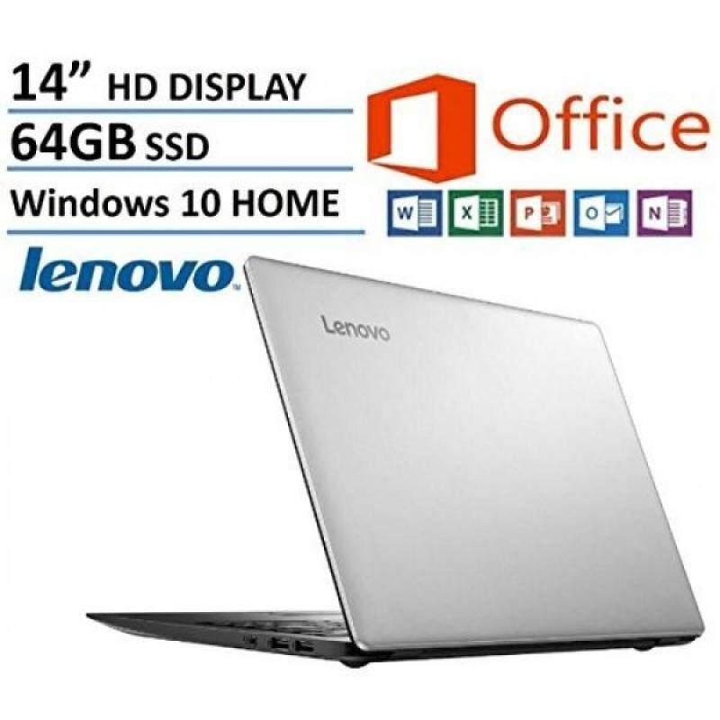 Lenovo IdeaPad 14 High Performance Laptop, Intel Celeron Dual-Core Processor, 2GB RAM, 64GB eMMC HDD, Webcam, WIFI, HDMI, USB 3.0, NO DVD, Windows 10, 1 Year Microsoft Office 365 Malaysia