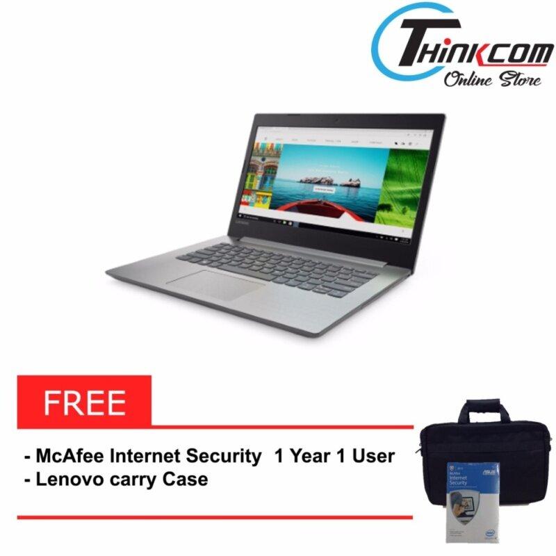 LENOVO IDEAPAD 320-14AST 80XU000LMJ [Platinum Grey] (AMD A9-9420, 4GB RAM, 1TB HDD, 2GB DDR5, 14-inch FHD) + McAfee Internet Security Malaysia