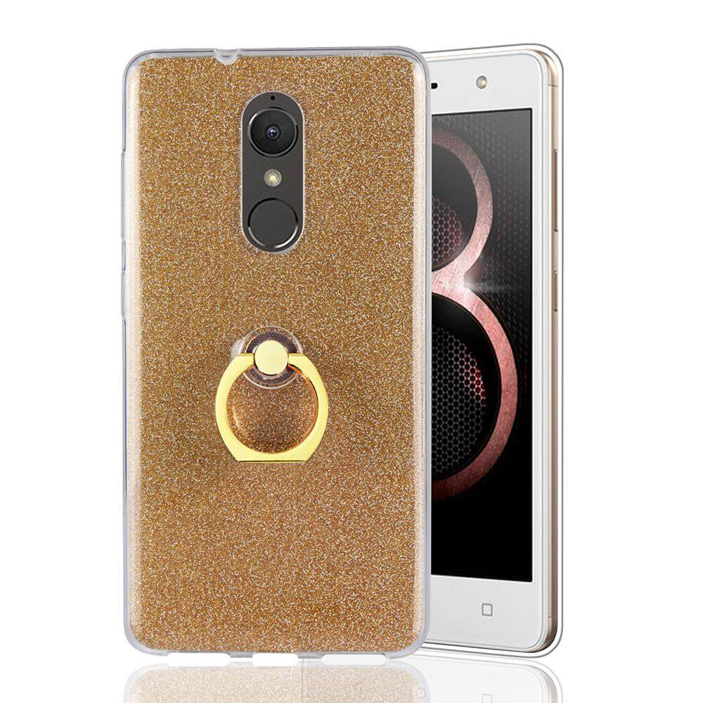 Lenovo K8 Case, Meishengkai Glitter Bling Prints Flexible Soft TPU Protective Case Cover with Ring Holder Kickstand for Lenovo K8 - intl