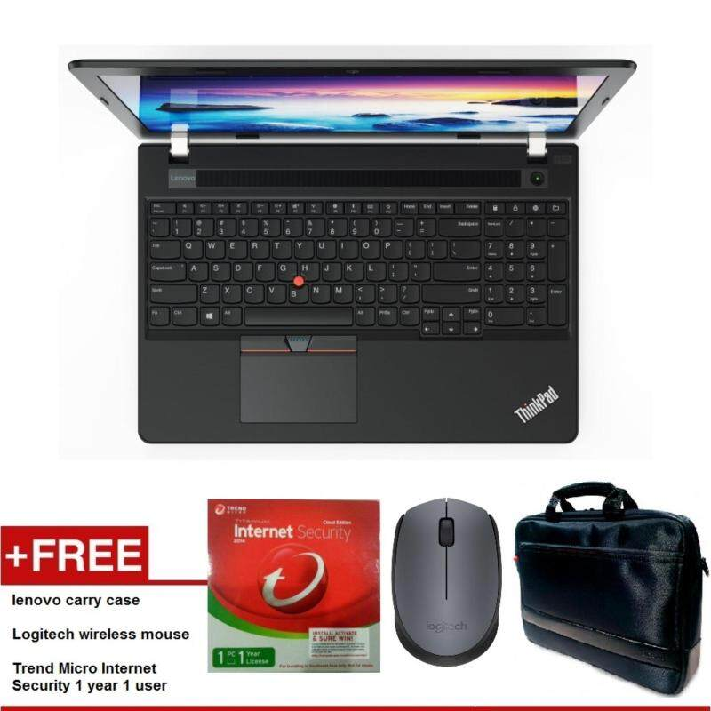 LENOVO THINKPAD E570 I7 15.6 HD NOTEBOOK 20H50001MY FREE LENOVO CARRY CASE + LOGITECH WIRELESS MOUSE + TREND MICRO INTERNET SECURITY 1 YEAR 1 USER Malaysia