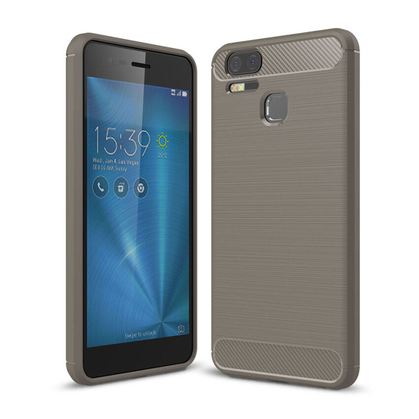 Lenuo Carbon Fiber Silicone Brushed Anti-knock cell phone Back Cover TPU Soft Case for