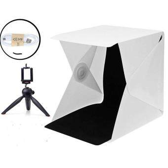 Light box Studio with Folding portable photo photography includingLED / USB cable / White & Black background photo Shooting/Tripod