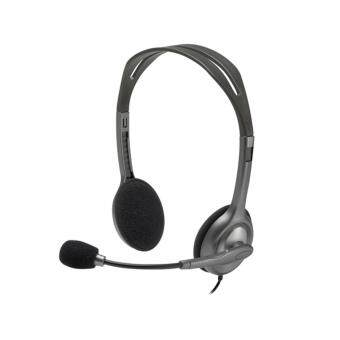 Harga Logitech H110 Wired On Ear Headset (Black)