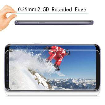 LUOWAN Galaxy S8 Plus Tempered Glass Screen Protector,3D Full Coverage Screen Protector for Galaxy S8 Plus (Clear) - 2