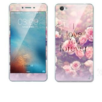 Luxury 3D Painting Front+Back Full Case Cover Color Tempered Glass Case For vivo X5Pro