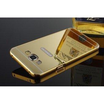 Luxury Mirror Bumper Anti Scratch Bright Protective Case For Samsung Galaxy A3 2015gold