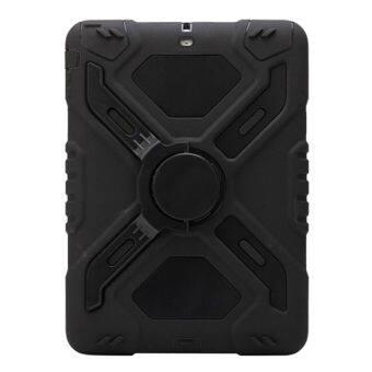 Lux Silicone Rubber Armor Heavy Duty Cover for Apple iPad Mini 2 Black