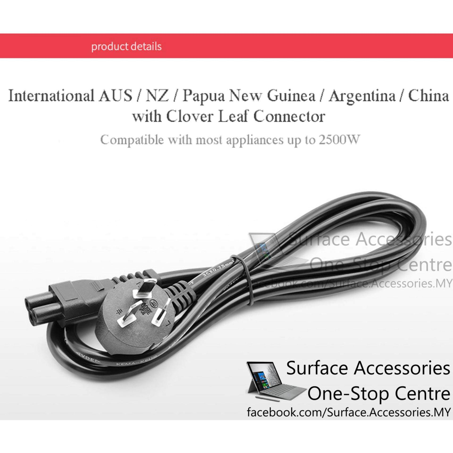 Malaysia Ac Power Cord 3 Pins Laptop Clover Leaf Australia New Cable Wiring Zealand Argentina China