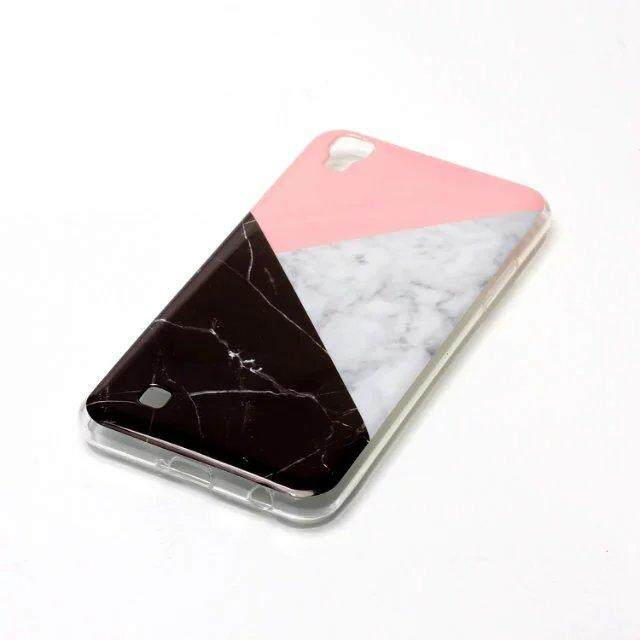 Detail Gambar Marble Skin Case For LG X Power Soft Silicon Phone Cover Case( Multicolor) - intl Terbaru