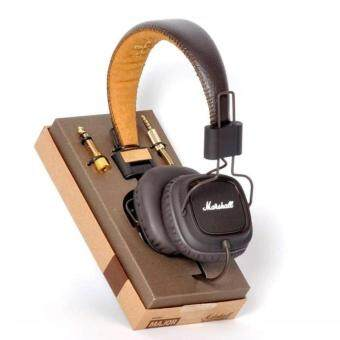 Harga Marshall Major headphones With Mic Deep Bass DJ HiFi Headset Professional DJ Monitor Genuine New Version