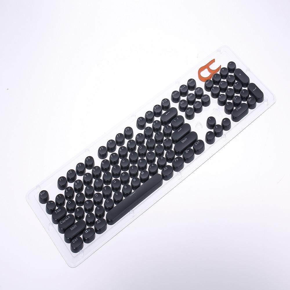 Detail Gambar Mechanical Gaming Keyboard Keycap Set 104 Vintage Keycaps Typewriter-Style with Transparent Lettering