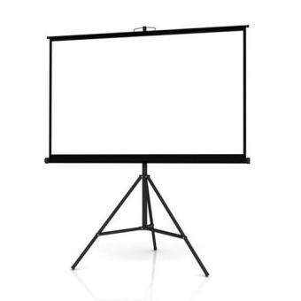 "Harga Meki High Quality Size 70"" x 70"" ( 6x 6 feets) Tripod Projector Screen for LED/LCD Projector- Matte White"