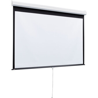 "Harga Meki High Quality Size 72"" x 72"" (6 x 6 feets) Manual ProjectorScreen for LED/LCD Projector - Matte White"