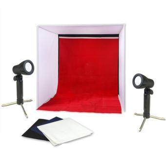 Harga Meking Folding Photo Studio Shooting Tent Portable Mini LED LampLight Cube Diffusion Soft Box Kit