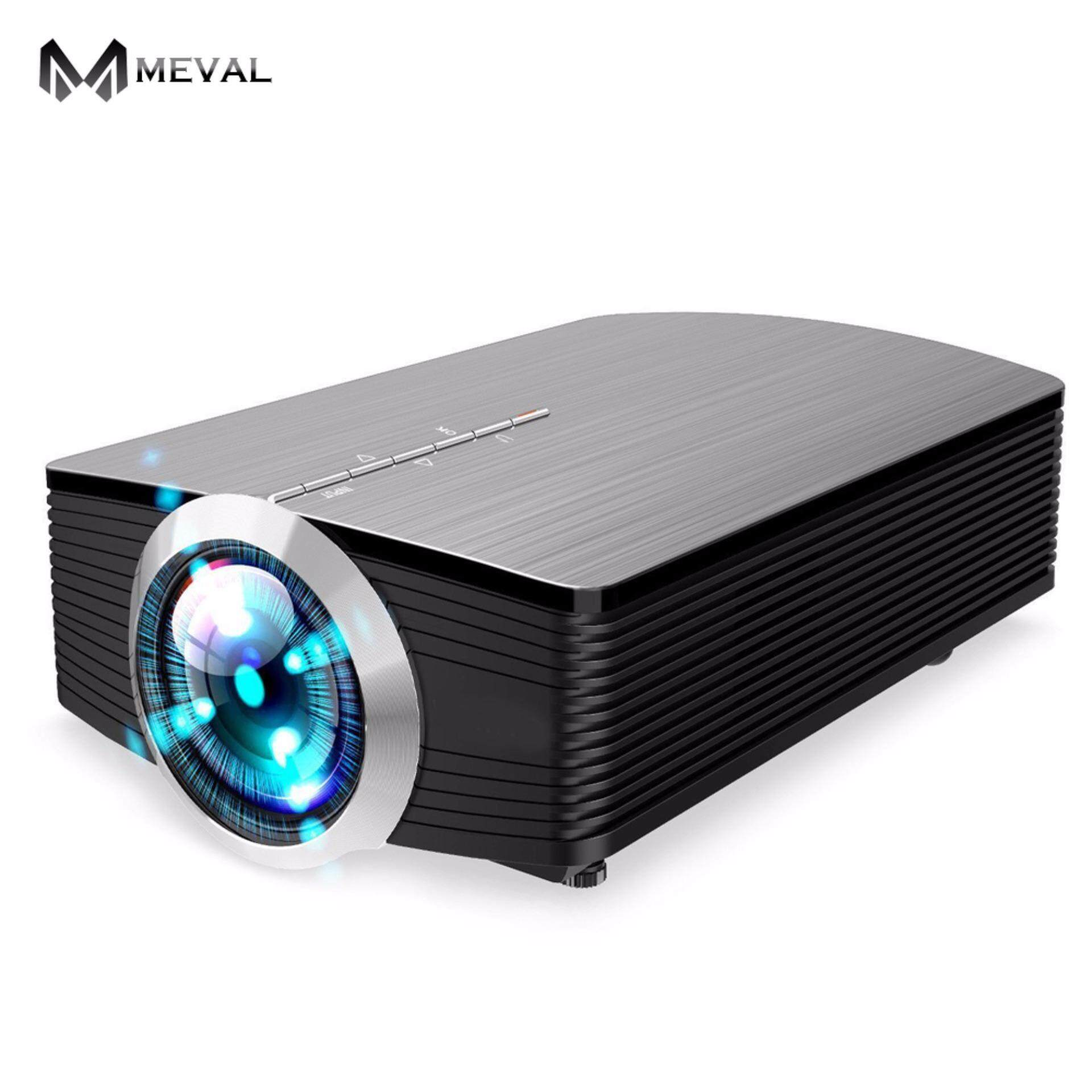 Meval YG500 Mini Lcd Projector 1000 Lumens AC3 Dukungan Penuh HD Video Portabel LED Rumah Theater Murah HDMI Proyector Beamer -Internasional
