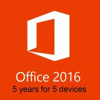 Harga Microsoft Office 2016 For 5 years subscription for 5 devices