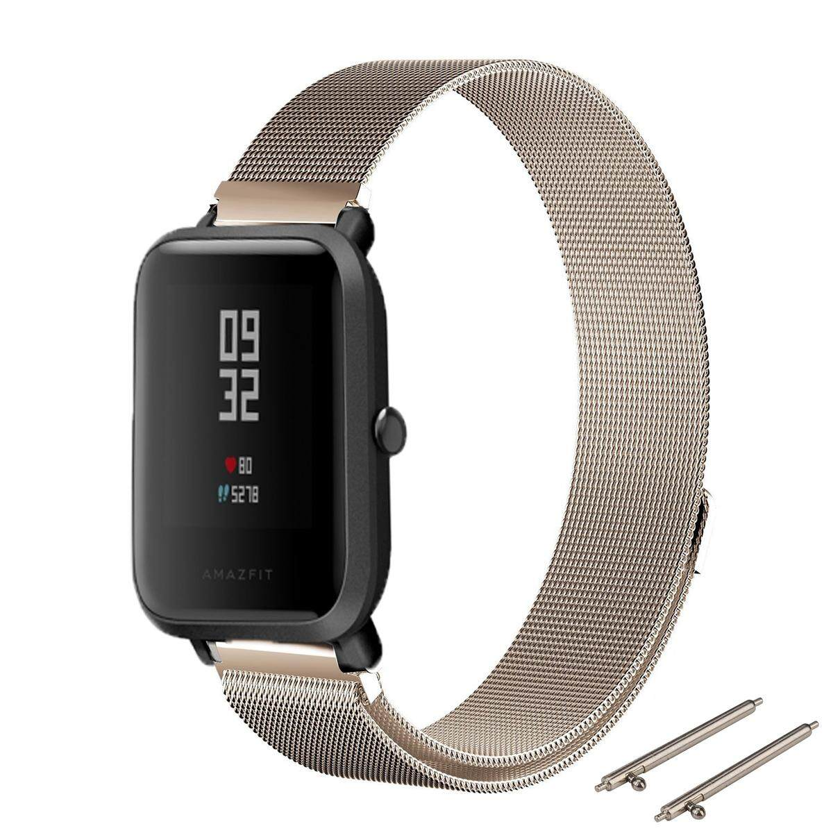 Milanese Nice Magnetic Stainless Steel Band Strap For Huami Amazfit Bip BIT PACE Lite Youth Smart Watch - intl