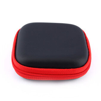 Mini Earphone Case Bag Storage Pouch for Most Earphone In earHeadphone Headset (Red)