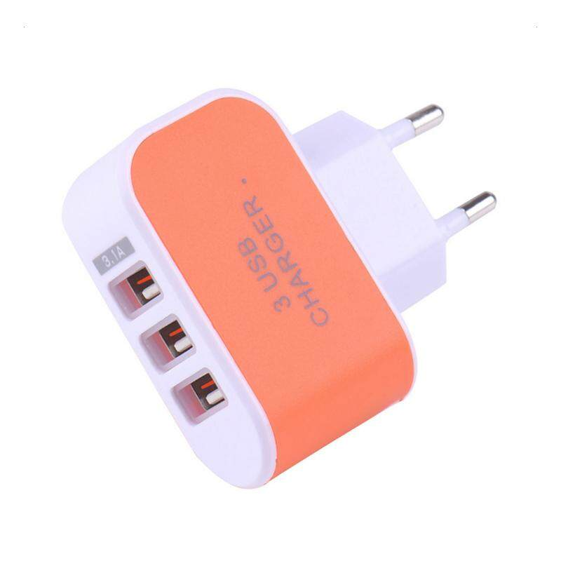 Mini Multi Port USB Charger 3 Ports Adapter Travel Wall AC Power Supply - intl