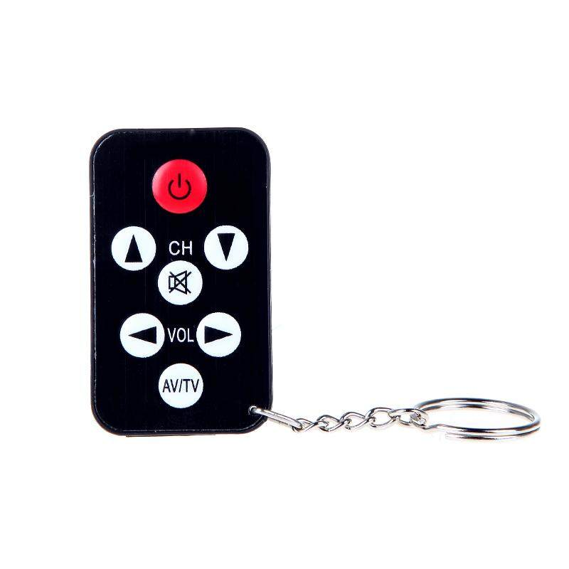 ฿216.00; Mini Universal IR TV Remote Control 7 Keys with Keychain Black