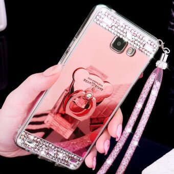 Harga Mobile Phone Case Mirror Phone Cover Lady Casing For Samsung GalaxyC9 Pro