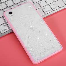 Mooncase Case For Vivo Y51 Rhinestone Soft TPU Bling Glitter Transparent Back Case .