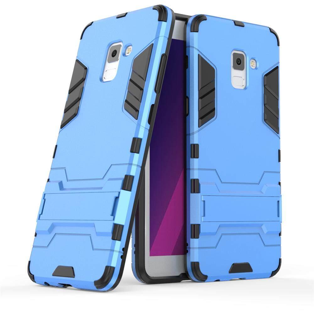 ซื้อ Moonmini ไฮบริดไฮบริดที่มีน้ำหนักเบาสูงปลอกกันกระแทกแรงกระแทกแรงกระแทกป้องกันโล่กับมีขาตั้งพับเก็บได้ สำหรับ Samsung Galaxy A8 พลัส 2018 นานาชาติ ออนไลน์
