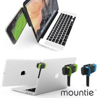 Harga Mountie Monitor Connector with Tablet Smartphone for Dual Monitors / Green , Blue color / Mount Your Phone or Tablet to Your Laptop